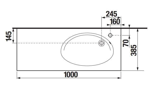 Долен шкаф с мивка Etna 100см дъб A851614445