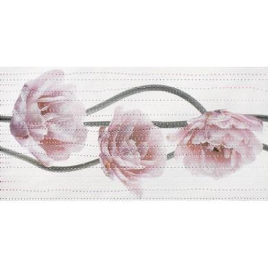 Декор 25х50 Леда лале розов