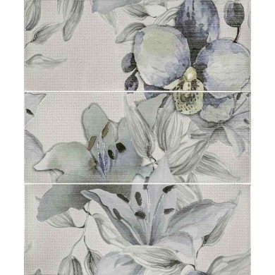 Декор 50х60 Виола цветя зелен 3 части