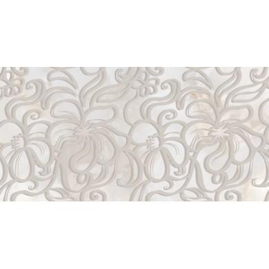 Декор 25х50 Селена дантела сив