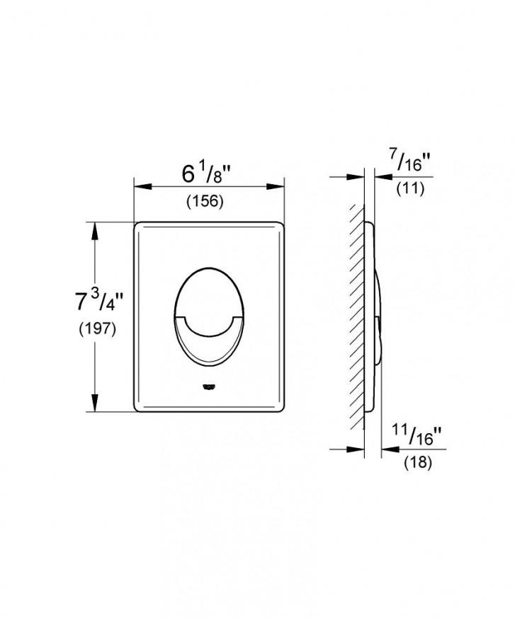 Бутон за WC Skate Air матиран хром 38505P00