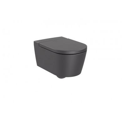 Конзолна тоалетна чиния Inspira Round Rimless цвят оникс A346527640