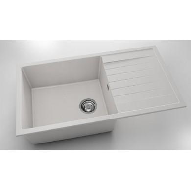 Кухненска мивка с ляв плот 90х49см от фатгранит 229