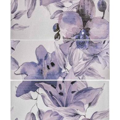Декор 50х60 Виола цветя лилав 3 части