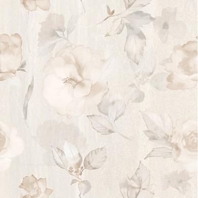 Декор 50х50 Калисто цветя крем 2 части