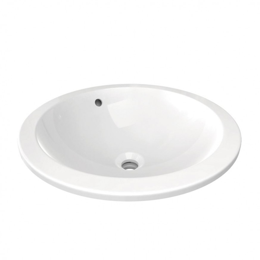Мивка за вграждане под плот 48 см кръг Connect E505401