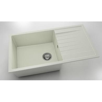 Кухненска мивка с ляв-десен плот 90х49см от полимермрамор 229